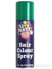 Hair Spray Green 125ml. Create a great look with this hair spray.  http://www.novelties-direct.co.uk/Hair-Spray-Green.html