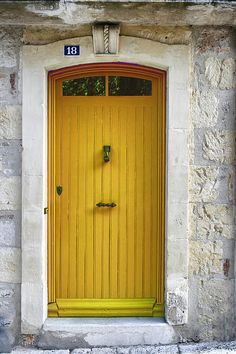 Yellow French Door | Photo By Georgia Fowler
