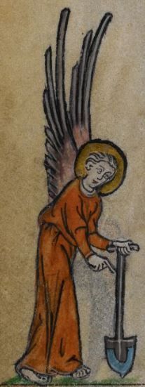 Detail from medieval manuscript, British Library Stowe MS 17 'The Maastricht Hours' f31v