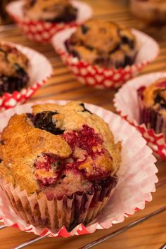 Mixed Berry Muffins - Refined Sugar / Flour and Egg Free!