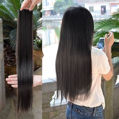 Hair Extensions & Wigs Wtb Women Invisible Fish Wire Long High Temperature Fiber Synthetic Hair Extensions Dark Brown Light Brown Red Synthetic Clip-in One Piece