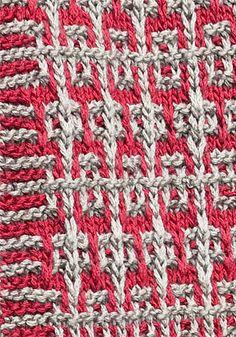 Free Pattern: Safi Mosaic Scarf by Susan Shildmyer