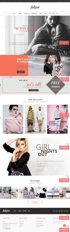 Fulgor – Minimal Fashion eCommerce WordPress Theme #responsivewordpressthemes #html5css3 #parallaxscrolling #wordpressthemes