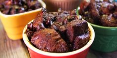 Five Chocolate Bread Pudding with Chocolate Whipped Cream - Chef Michael Smith Bread Pudding Recipe Food Network, Food Network Recipes, Pudding Recipes, Chocolate Bread Pudding, Molten Chocolate, Chocolate Recipes, Fruit Recipes, Dessert Recipes, Coconut Tart