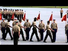 Marching Marines - YouTube Marines Funny, Us Marines, Marines Boot Camp, Drill Instructor, Im Proud Of You, 9 Year Olds, Military Life, Greatest Hits, Marine Corps