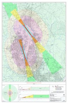Civil Aviation Airports Height Restriction Overlay Map of Dhaka / Dhaka City Maps / Downloads - ArchSociety