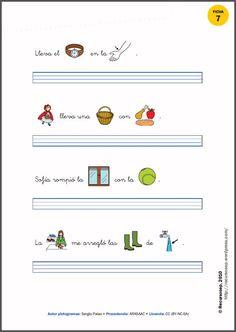 MATERIALES - Taller de caligrafía con pictogramas de ARASAAC. Colección de fichas para trabajar la caligrafía con pictogramas. Se puede elegir entre tres tipos de pauta: simple, Montessori y cuadrícula. ENLACE EXTERNO: http://recursosep.wordpress.com/2010/09/14/fichas-de-pictogramas/