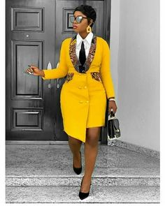 African Blazer Dress, African clothing for women,African print, African Dress - African fashion Short African Dresses, Latest African Fashion Dresses, African Print Dresses, African Print Fashion, Fashion Prints, Ankara Fashion, Africa Fashion, Modern African Fashion, African Prints