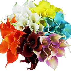 cool  Beautiful artificial flower:calla lily,black petal,looks mysterious Fully wired stem to manipulate the shape Exquisite workmanship,imitating real flowers'lines,great quality   https://www.silkyflowerstore.com/product/latex-real-touch-artificial-calla-lily-flower-bouquet-wedding-party-home-garden-restaurant-decoration-bunch-of-10/