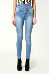 Bella Highwaisted Lightwash Supersoft Skinny Jeans