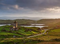 Church of Rodel, Outer Hebrides, Scotland. Picturesquely romantic.
