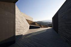 La propuesta del proyecto consiste en la extensión del sótano de la bodega con la integración del paisaje.