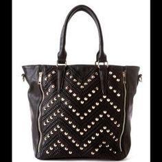 Handbags - $30 SALE ENDS 9/2! Large Chevron Stud Tote