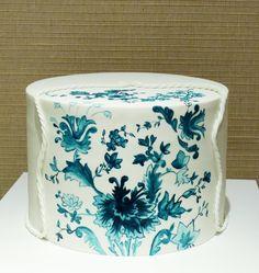 Hand painted Cake by havesomesugar