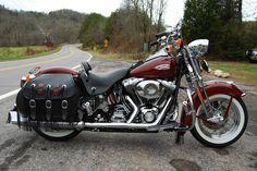 Harley-Davidson : Softail 2000 HARLEY DAVIDSON SOFTAIL HERITAGE SPRINGER FLSTS - LOADED WITH CHROME, CLEAN
