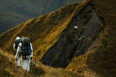 Sitka's Jeff Sposito and Guide Cole Kramer hunting mountain goats on Kodiak Island, AK (Photo: Jordan Gill) - Seacat Creative