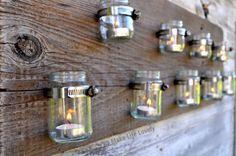 Baby Food Jar Candle Display