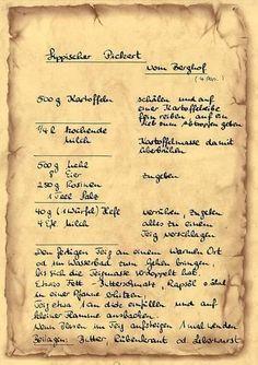Alte Deutsche Rezepte