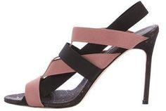 Manolo Blahnik Elasticized Slingback Sandals