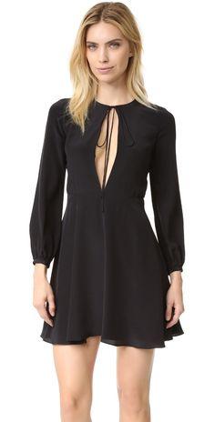 Amanda Uprichard Tie Front Mini Dress | SHOPBOP