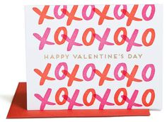 valentines day, valentines day card, xoxo, love, love card, pink and red, Cupid Card