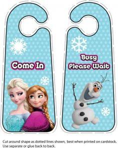{free} printable Frozen Door Hanger