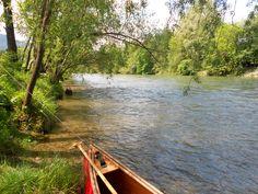 Auf der Mur vor Unzmarkt Canoe, River