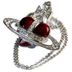 Pendants For Women | Vivienne Westwood Large Diamante Heart Pendant - Silver | @ KJ Beckett - Stunning Collection Online!