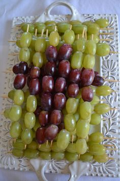 Communion skewered grapes