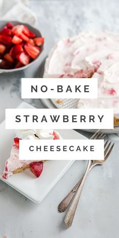 This creamy no-bake strawberry cheesecake is a summer's dream!  Fresh and sweet strawberries are swirled into cream cheese and then refrigerated to allow the flavors to come together.  The easy recipe is a summer favorite! Strawberry Muffins, Strawberry Topping, Strawberry Shortcake, Retro Recipes, Gourmet Recipes, Baking Recipes, Blueberry Cheesecake, Cheesecake Recipes, Lemon Oreos