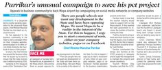 Destination One India launch featured in oHeraldo Goa main issue. 30th October 2014.