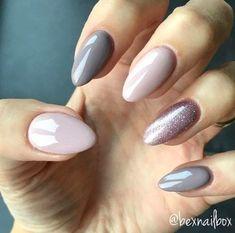 Trendy Gel Nail Arts Fashion ideas to try out gel nails now - Nagellack Bluesky Nails, Bluesky Gel Polish, Gel Polish Manicure, Gray Nail Polish, Ombre Gel Polish, Gel Manicures, Nails Now, Fun Nails, Imbre Nails