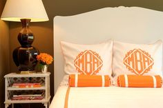 monogrammed bedding, always