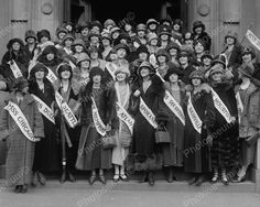 Miss America Contestants Group Shot 8x10 Reprint Of Old Photo