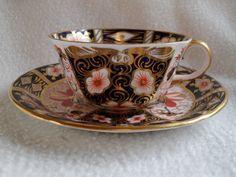 Elegant Royal Crown Derby Imari 2451 Teacup and Saucer 1909 from misssmithvt on Ruby Lane