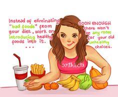 skip niet de slechte dingen, maar eet meer van het goede