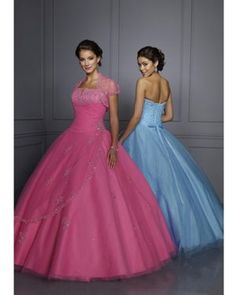 2013 Hot Pink Strapless Dresses for Quinceanera with Beading in Little Rock