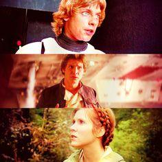 Luke, Han and Leia