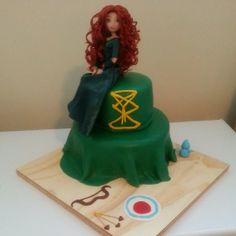 Brave cake  merida cake