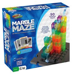 Marble Maze Puzzle & Logic Game by Marble Genius Marble Toys, Steam Toys, Marble Maze, Logic Games, Stem Learning, 3d Puzzles, Learning Through Play, Building Toys, Critical Thinking