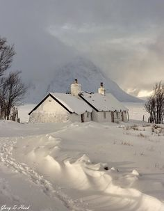 Winter in the Highlands of Scotland.