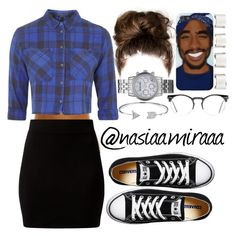 """Go Follow northsouthwesteast"" by nasiaamiraaa ❤ liked on Polyvore featuring Topshop, Converse, Maison Margiela, Michael Kors, Bling Jewelry, Spitfire and NanaOutfits"