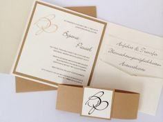 """Hochzeitseinladung - Design """"Honey"""""""