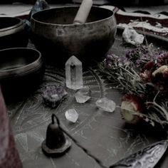 The mortar and pestle, the crystal, the herbs, the candle... Sometimes the simplest treasures bring the most magic...