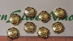 8 pcs a pack 12mm Reversible Solid Native by TibetanSilverNmore