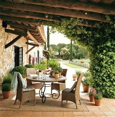 This 17th century farmhouse is located in Catalonia, Spain. A clever and careful arrangement of  furniture and the use of natural earth tone...