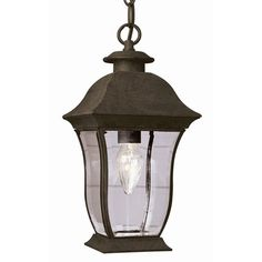Cast an inviting glow over your deck or porch with this chic hanging light.
