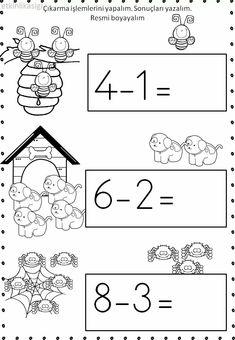 First Grade Worksheets, Kindergarten Math Worksheets, Math Literacy, First Grade Math, Homeschool Preschool Curriculum, Montessori Math, Preschool Learning, Preschool Activities, Simple Math