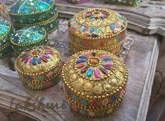 caixinhas Kashmere, decoração indiana, bohostyle, decoração étnica (1)