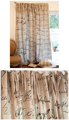 French Script Drapes!